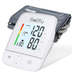 $39.99(原价$59.99)Belifu 上臂式血压仪 高清背光大字 一键操作 快速了解身体状况
