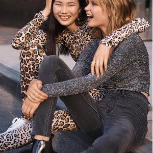 低至4折 $4.99起H&M 精选女士牛仔裤超值特卖