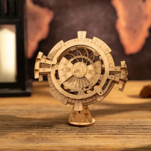 $11.99(原价$23.99)ROKR 3D 木质万年历,精密细致,环环相扣