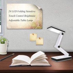 $11.99(原价$21.99)Lixada LED 便携式台灯 触摸式操作 电池能源无线方便