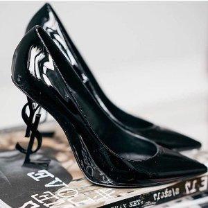 低至4折+额外8折 性感又时髦Saint Laurent 精选美鞋专场 收logo款