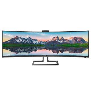 $1199.99 新品首降Philips Brilliance 499P9H 49吋 极宽屏曲面显示器