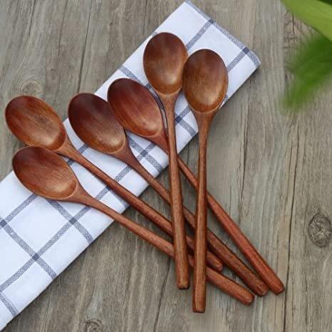ADLORYEA 木质长柄汤勺 6个