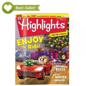 $29.64(原价$59.4) 送两份好礼Highlights 儿童杂志全年12本 陪伴几代美国孩子成长