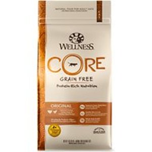 Wellness CORE Grain-Free Chicken, Turkey & Chicken Meal Indoor Formula Dry Cat Food, 11-lb