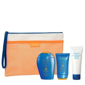 Shiseido含2个正装!官网已断货!Expert Sun SPF50 防晒套装