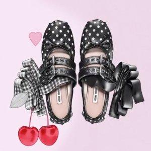 折扣区5折起+额外8折 收芭蕾舞鞋Miu Miu 你无法拒绝的梦幻舞鞋 仙女们的爱