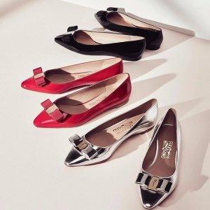 7折 入经典蝴蝶结款折扣继续:Salvatore Ferragamo 精选美鞋热卖