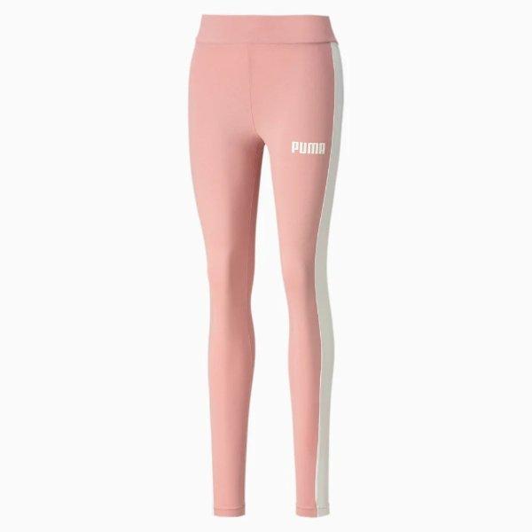白条粉色运动裤