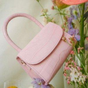 7折 €337收封面同款By Far 少女配色新款包包热卖  夏天的味道是粉紫色的风