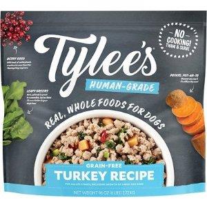 Tylee'sHuman-Grade Turkey Recipe Frozen Dog Food, 6-lb