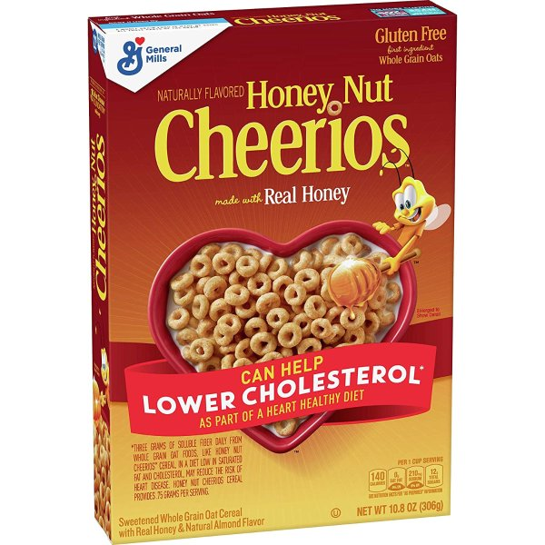 Honey Nut Cheerios 蜂蜜早餐即食麦片 10.8oz