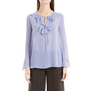 Max StudioPrinted Georgette Tunic with Tie