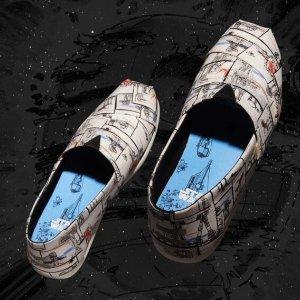 神秘新款上线 $50收限量版Toms X 星战合作款鞋  星战迷全家总动员