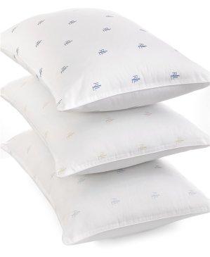 $6Lauren Ralph Lauren Logo Firm Density King Pillow, Down Alternative