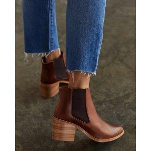 NisoloHeeled Chelsea Boot Brandy
