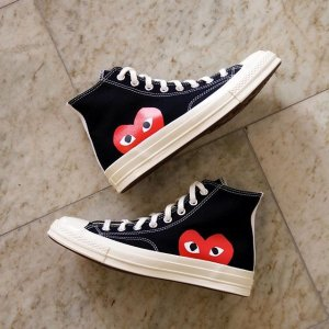 New ArrivalSSENSE CDG Play x Converse Edition Sneaker