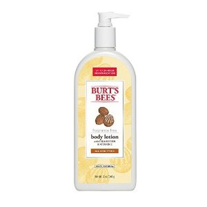Burt's Bees Fragrance Free Shea Butter and Vitamin E Body Lotion, 12 Ounces