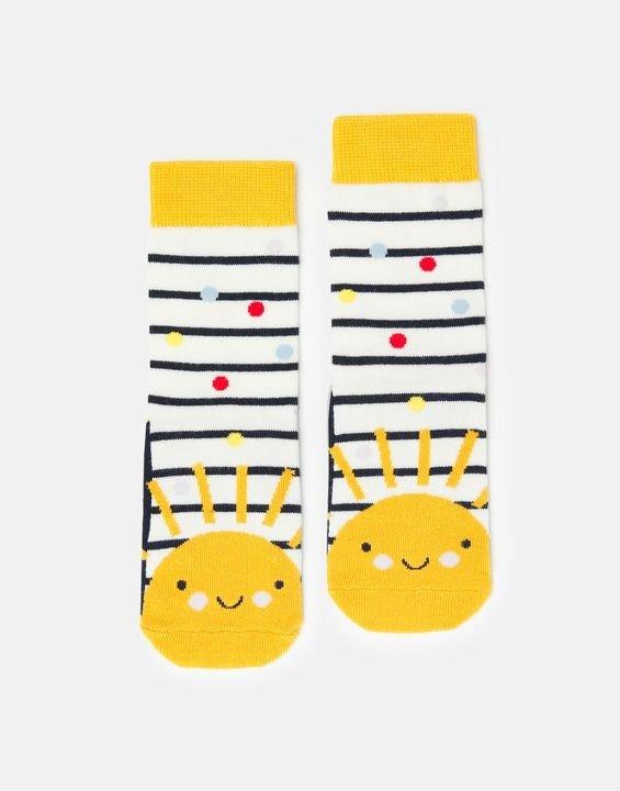 儿童太阳条纹袜子