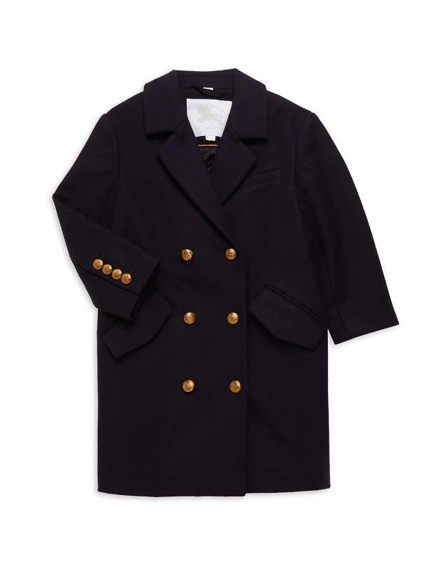 男童羊毛大衣
