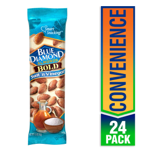 $10.62 + Free ShippingBlue Diamond Almonds, Bold Salt & Vinegar (Pack of 24)