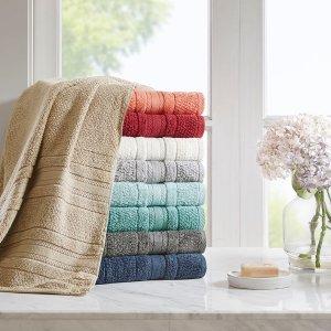$29.74Madison Park Essentials 纯棉超柔毛巾6件套 多色可选
