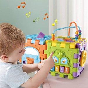 史低价:BOZTX 六面体儿童益智学习玩具,适合6个月以上宝宝