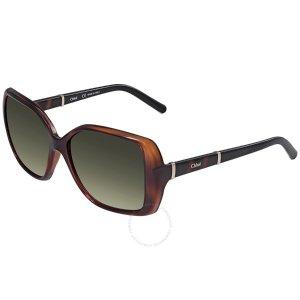 ChloeGreen Gradient Square Sunglasses CE680S 219 58
