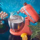 直降$500 收樱花粉和牛油果绿KitchenAid 高颜值马卡龙色专业厨房料理机