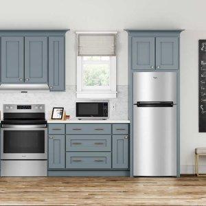 Black Friday Sale Live: Whirlpool 18CuFt 28-inch Wide Top Freezer Refrigerator in Fingerprint Resistant Metallic Steel
