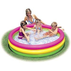 仅$49.95给宝宝夏日消暑Intex 儿童彩色充气泳池 宝宝夏天院子里就能玩水