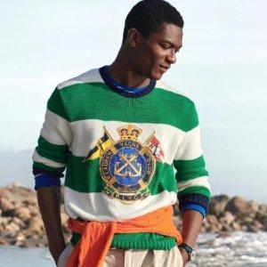 低至5折+额外8折 秋装上市Polo Ralph Lauren 精选男、女装热卖 收经典Polo衫