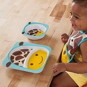 $9.97(原价$14.44)Skip Hop 餐盘两件套, 长颈鹿造型