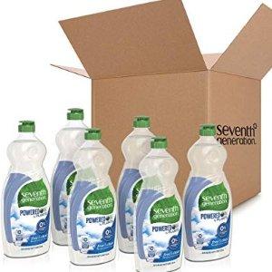 Seventh Generation 天然清洁洗碗液25盎司 6瓶
