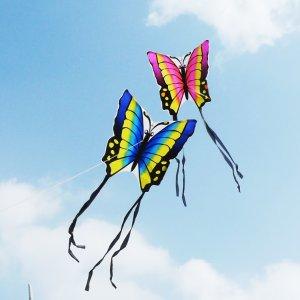 低至3折 DIY手绘风筝$0.54疫情过后踏青必备 童年游戏放风筝 搞怪造型乐趣无限