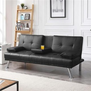 Easyfashion LuxuryGoods Modern PU Leather Futon