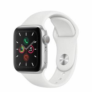 Apple Watch Series 5 配白色运动表带 40毫米