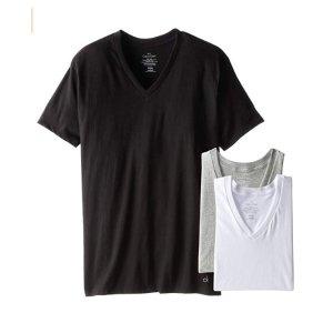 $20.98(原价 $39.50)Calvin Klein 男士黑白灰T恤3件套促销