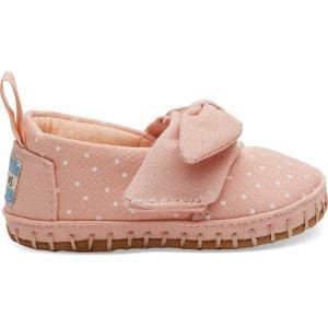 Toms婴儿蝴蝶结软底鞋