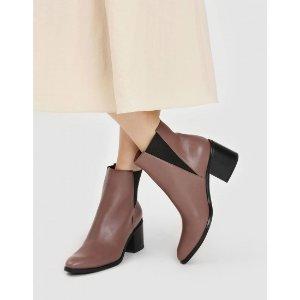 Charles & KeithMauve Classic Block 短靴 | CHARLES & KEITH