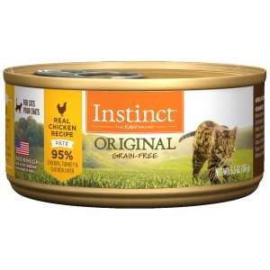 Instinct Grain-Free Chicken Canned Cat Food by Nature's Variety, 5.5 oz., Case of 12
