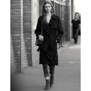 SandroDouble-Sided Wool Trench Coat