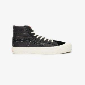 VansOG Style 138高帮黑色帆布鞋