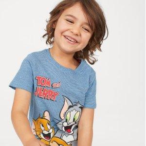 低至$1.99+一件享额外7.5折H&M 儿童服饰热卖 促销区惊喜重重