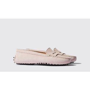 樱花粉豆豆鞋