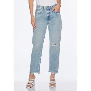 Current/Elliott直筒牛仔裤