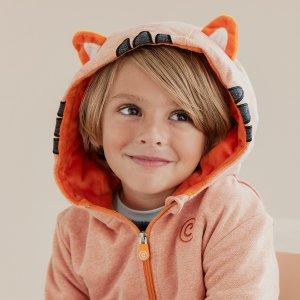 全场8折+独家额外9.5折Cubcoats 2合1动物公仔儿童外套双12促销 可爱公仔可变连帽外套