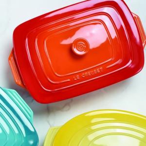 低至5折Le Creuset 3.3L长方形带盖烤盘5色选,一键开启厨神能量