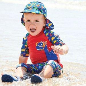 a83c6fd712 JoJo Maman BebeRed Dinosaur 2-Piece Sun Protection Suit Duck 1-Piece Sun  Protection