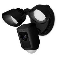 Ring Floodlight 室外监控摄像头带照明  黑色